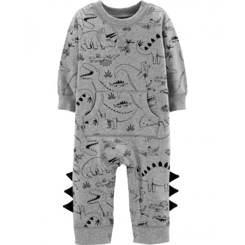 카터스 Dinosaur Cotton Jumpsuit
