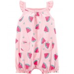 Watermelon Tank Romper