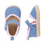OshKosh Chambray Espadrille Crib Shoes