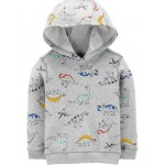 Dinosaur Pullover French Terry Hoodie
