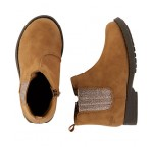 OshKosh Brown Glitter Ankle Boots