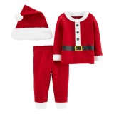 3-Piece Santa Suit & Cap Set