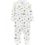Certified Organic Cotton Zip-Up Sleep  Play
