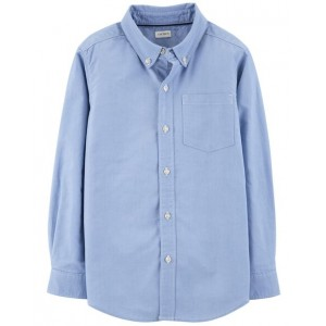 Oxford Button-Front Shirt