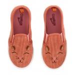 Corduroy Cat Slip-Ons