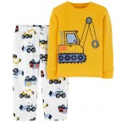 2-Piece Construction Snug Fit Cotton  Fleece PJs