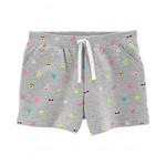 Emoji Pull-On French Terry Shorts