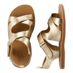 OshKosh Metallic Gold Sandals