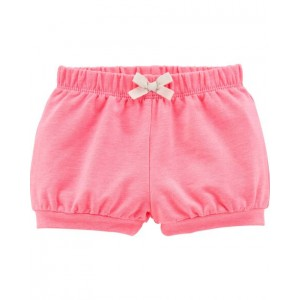 Neon Pull-On French Terry Bubble Shorts