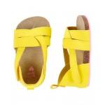 OshKosh Yellow Sandal Crib Shoes