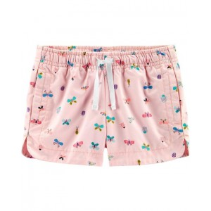 Butterfly Pull-On Twill Shorts