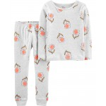 2-Piece Floral Certified Organic Snug Fit Cotton PJs