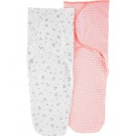 2-Pack Cotton Swaddle Blankets