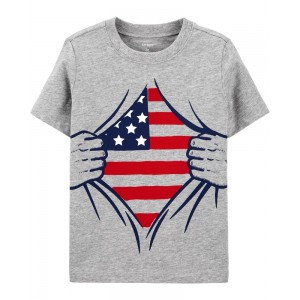 American Flag Jersey Tee