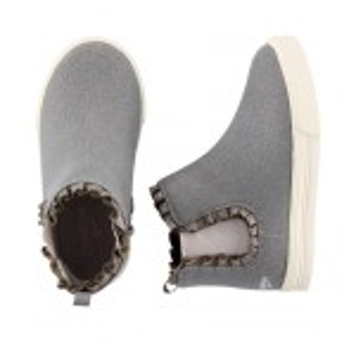 OshKosh Silver Ruffle Ankle Boots