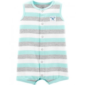 Whale Snap-Up Romper