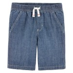 Easy Pull-On Chambray Shorts