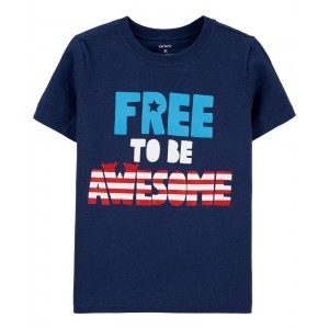 4th Of July Awesome Jersey Tee