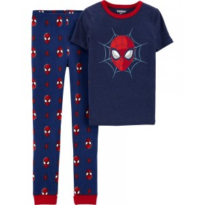 Snug Fit Spiderman Cotton PJs