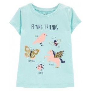 Glitter Flying Friends Jersey Tee