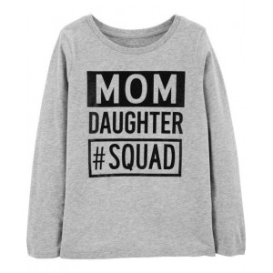 Mom Daughter Squad Jersey Tee