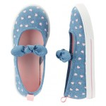 Carters Chambray Slip-On Shoes