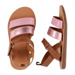 OshKosh Metallic Pink Sandals