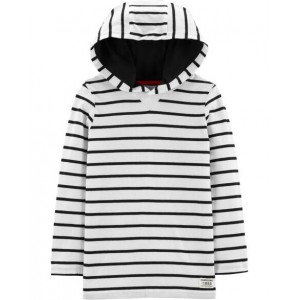 Striped Hooded Tee