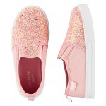 OshKosh Pink Glitter Slip-On Shoes