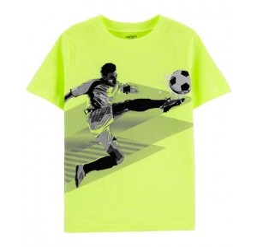 Neon Soccer Slub Jersey Tee