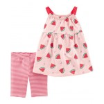 2-Piece Watermelon Tank  Bike Short Set