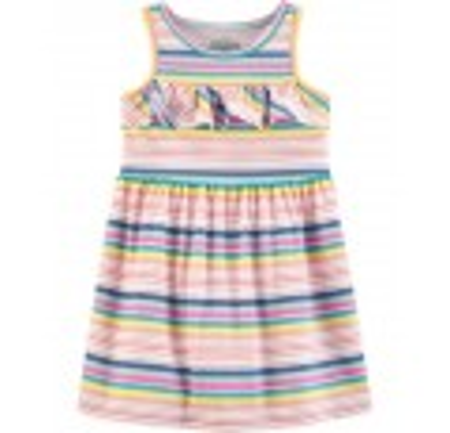 Sleeveless Rainbow Striped Dress