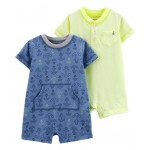 2-Pack Anchor Rompers