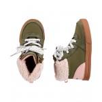 Sherpa Collar Sneaker Boots