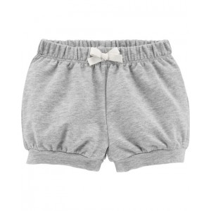 Pull-On French Terry Bubble Shorts