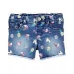 Doodle Stretch Denim Shorts