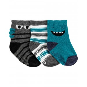 3-Pack Monster Crew Socks