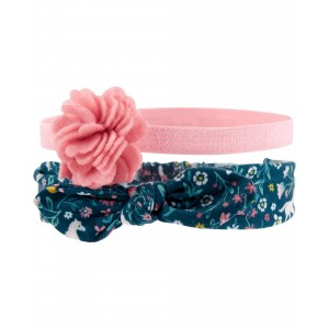 2-Pack Floral Headwraps