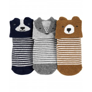 3-Pack Critter Booties