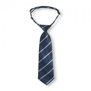 Toddler Boys Uniform Pinstripe Tie
