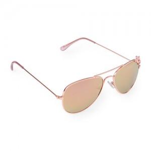 Girls Heart Metal Aviator Sunglasses
