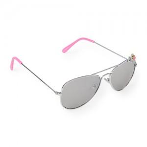 Girls Emoji Metal Aviator Sunglasses