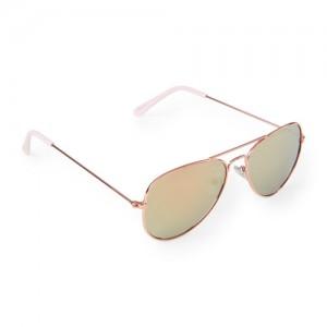 Girls Metal Aviator Sunglasses