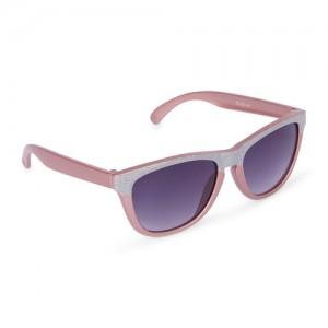 Girls Glitter Colorblock Retro Sunglasses