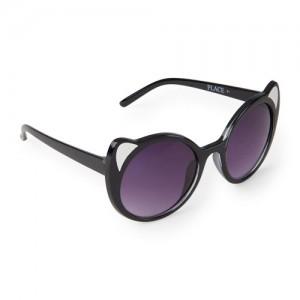 Girls Cat Ears Round Sunglasses