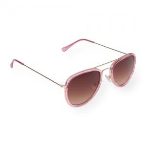 Girls Mixed Metal Aviator Sunglasses