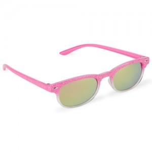 Toddler Girls Ombre Glitter Retro Sunglasses