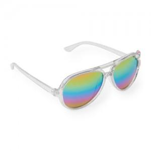 Toddler Girls Charm Plastic Aviator Sunglasses