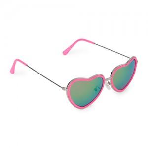 Girls Metal Heart Sunglasses