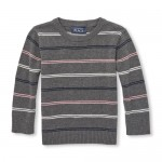 Toddler Boys Striped Crew Sweater